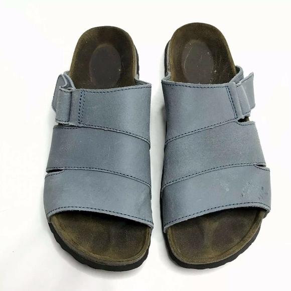 Birkenstock Betula Sandals 245 Blue Strap Slip On